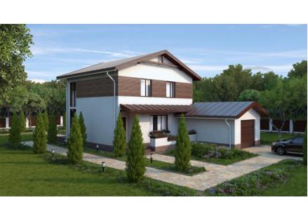 """Дом двухэтажный с гаражом """"Просторный"""" 172 м.кв."""
