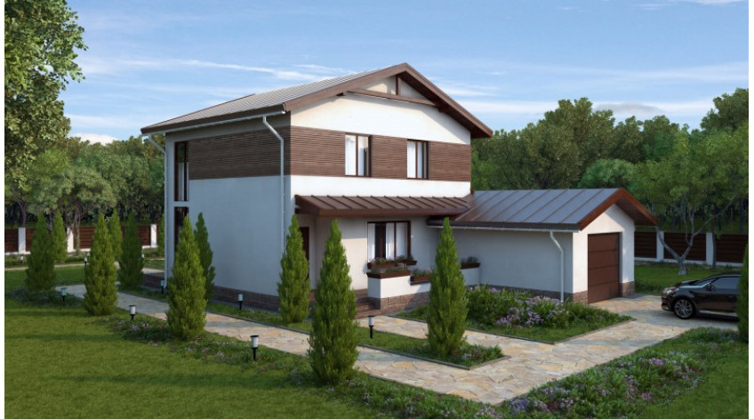 Projects of frame houses using Canadian technology