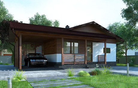projects of houses made of sip-panels
