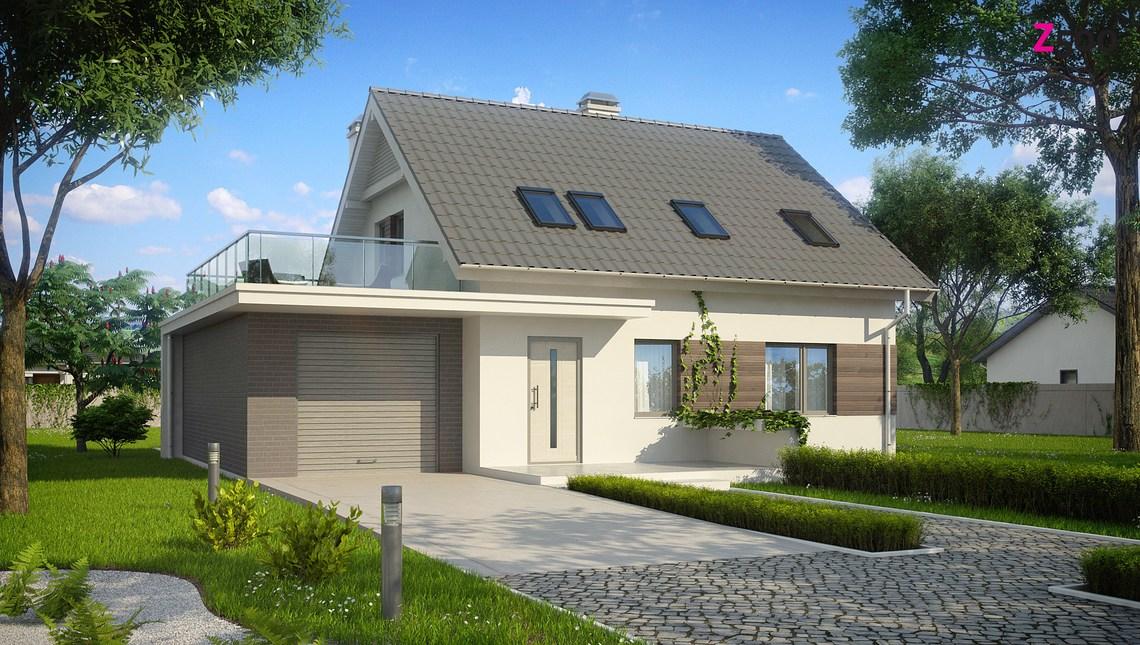 Проект дома СИП с гаражом