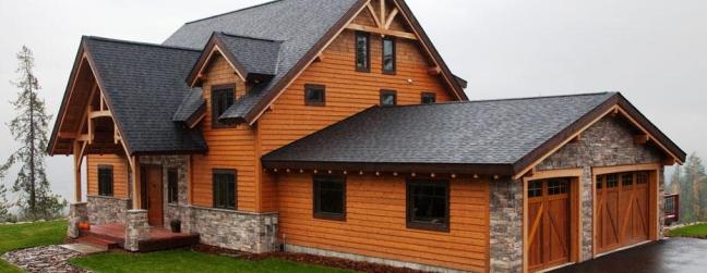 Отделка фасада по технологии блок-хаус