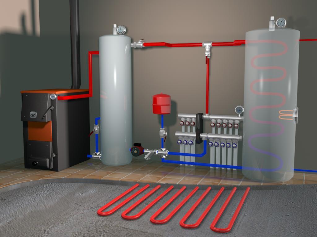 Система отопления для дома из сип панелей