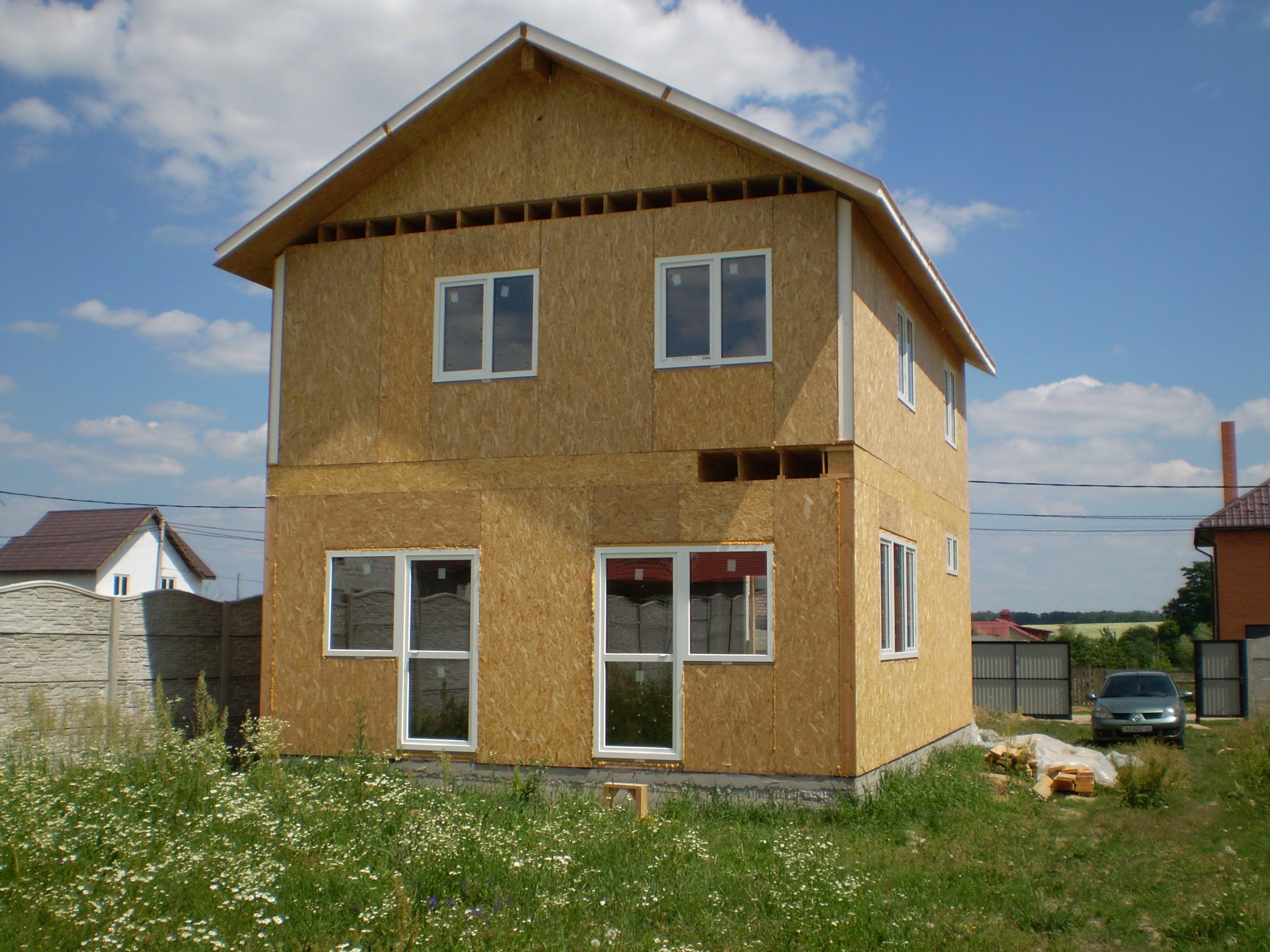 Этапы строительства дома из сип