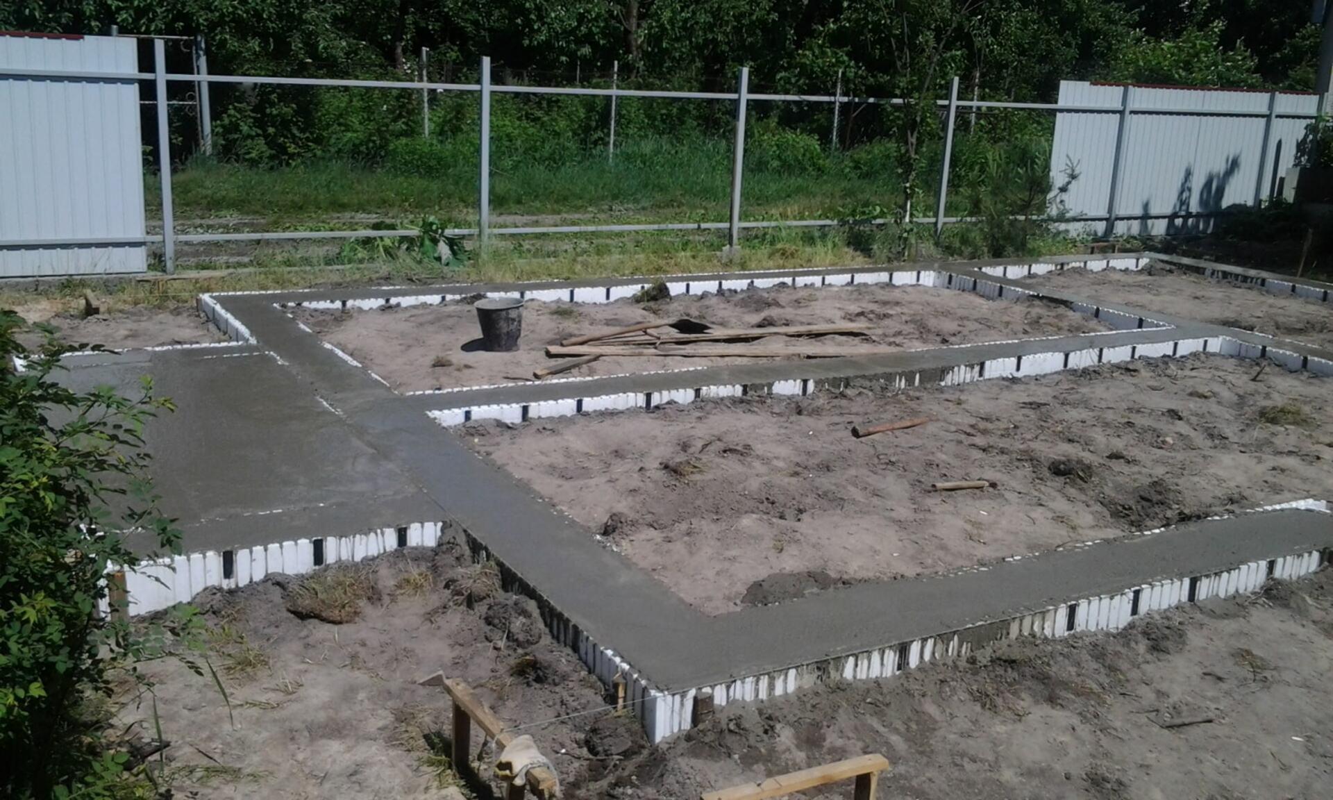 Ленточный фундамент для дома из Сип панелей