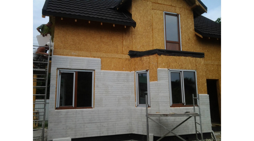 How to build a house from SIP panels. Foundation, walls and ceilings